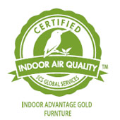 Certified for Indoor Advantage Gold – SCS Global Services' highest level of indoor air quality performance for furniture.