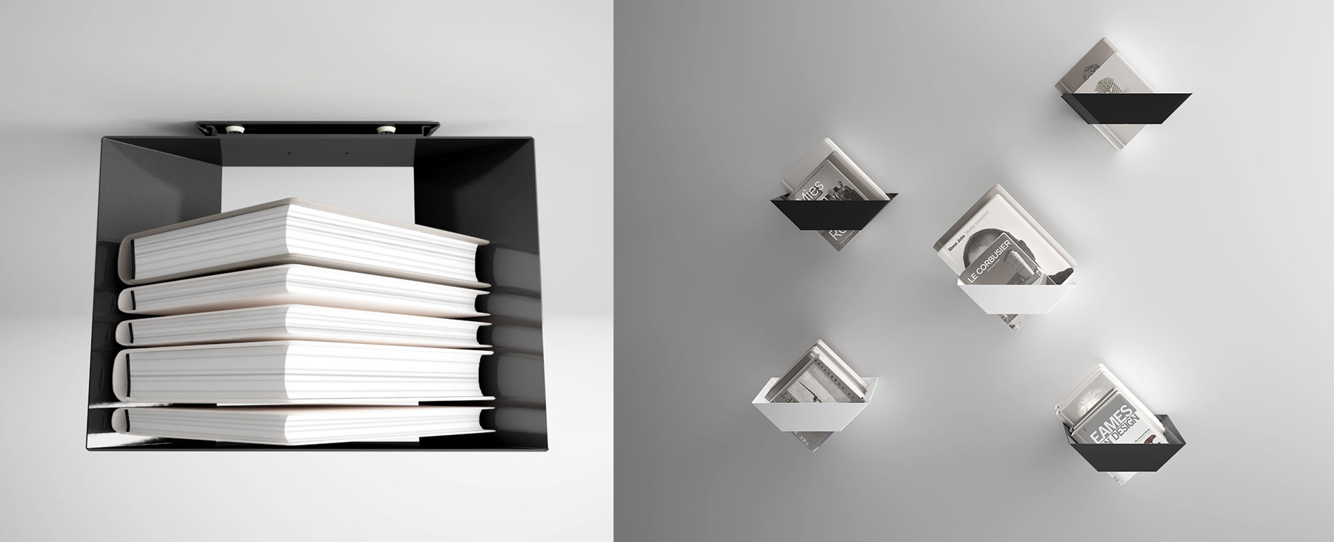 KOKU Wall-Mounted Bookshelves