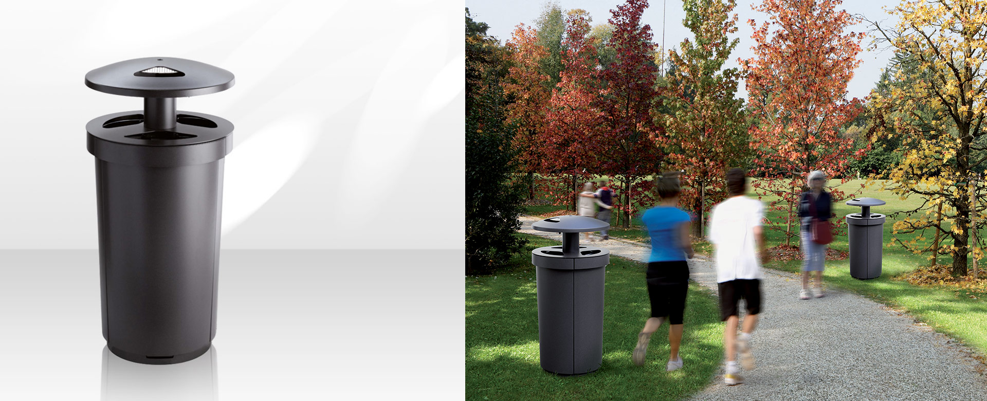 MECORA - Outdoor Waste Receptacle