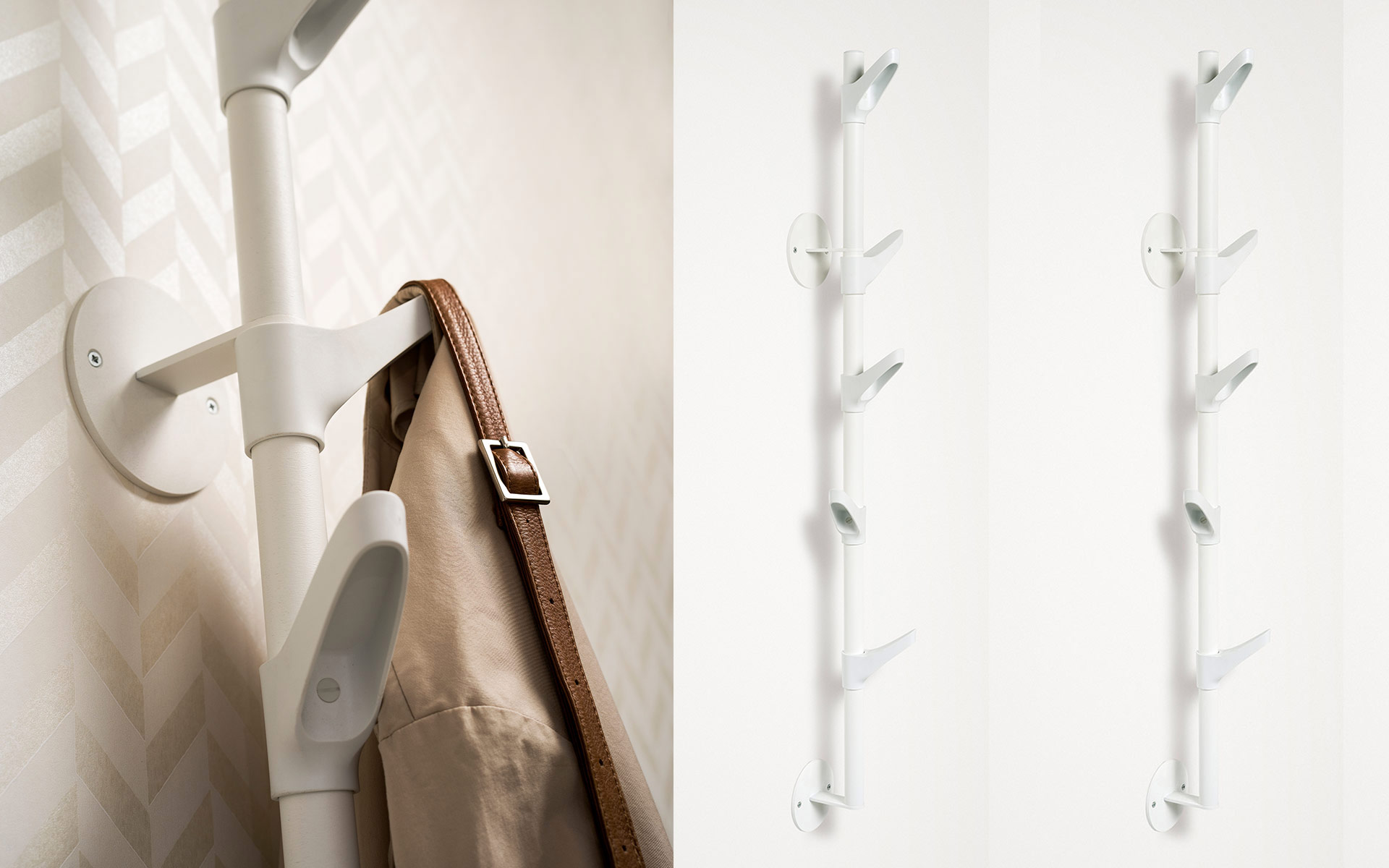 Slide W Wall Mounted Hook Strip