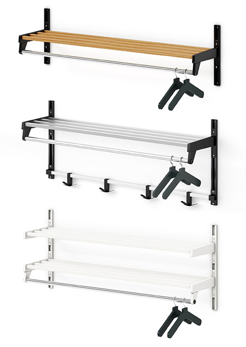 WH Hanger Style Wall Rack